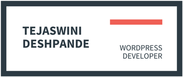 Tejaswini Deshpande – WordPress Developer