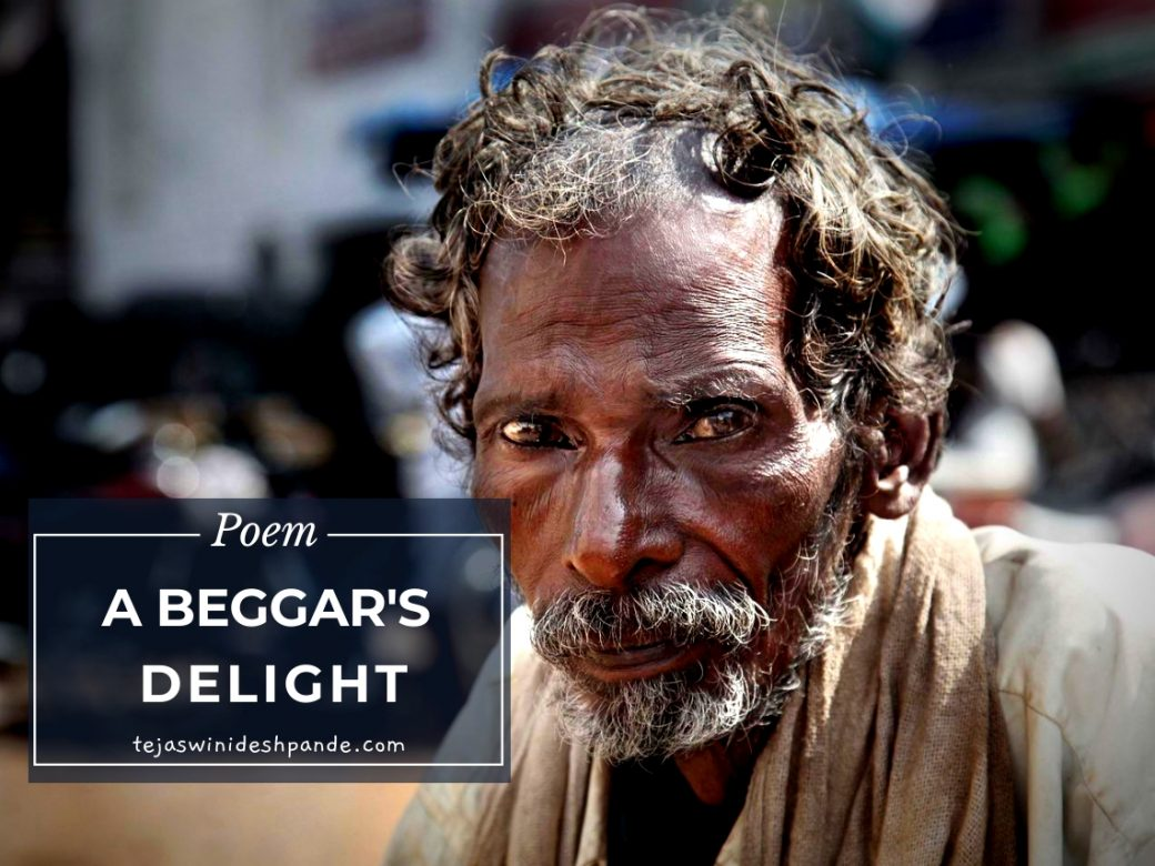 Indian Beggar sitting on the street
